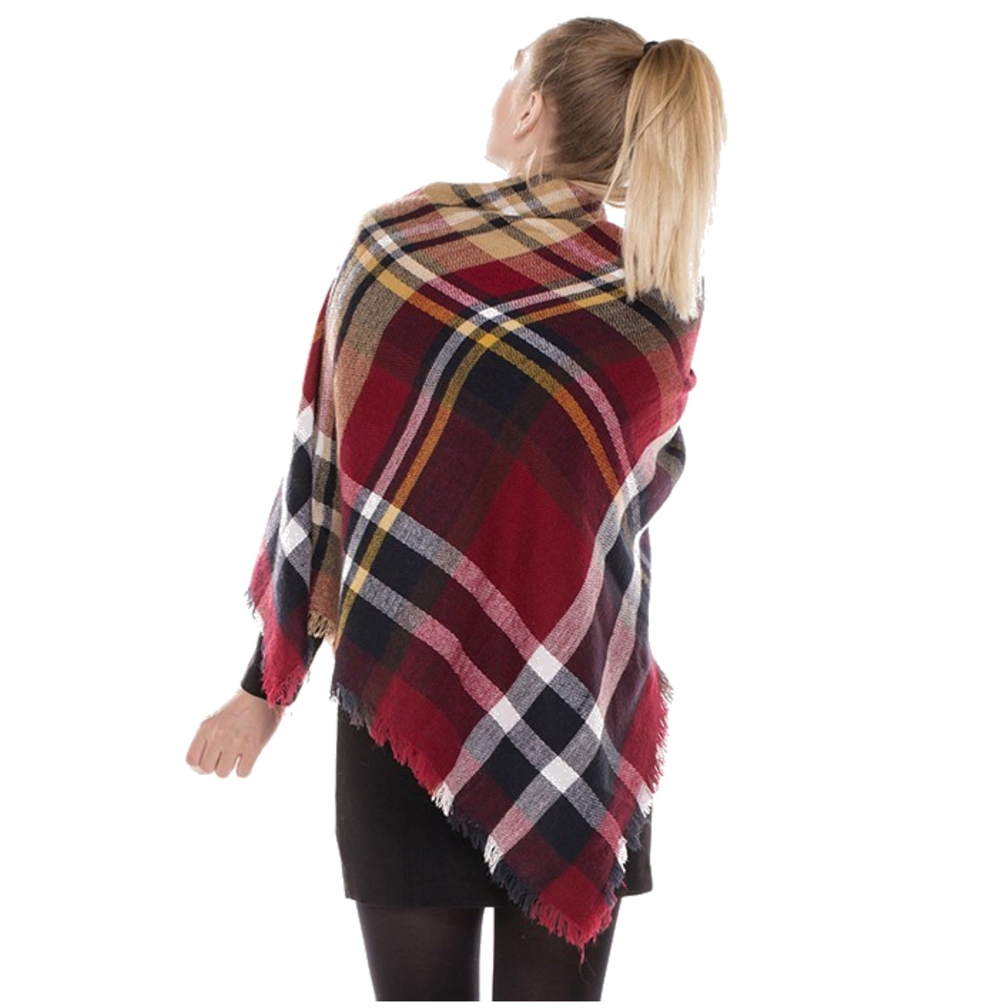 Burgundy Blanket Scarf- ShopLuLu.com , New York's Fashion District - NYC - Factory Direct. Basic As it Should Be