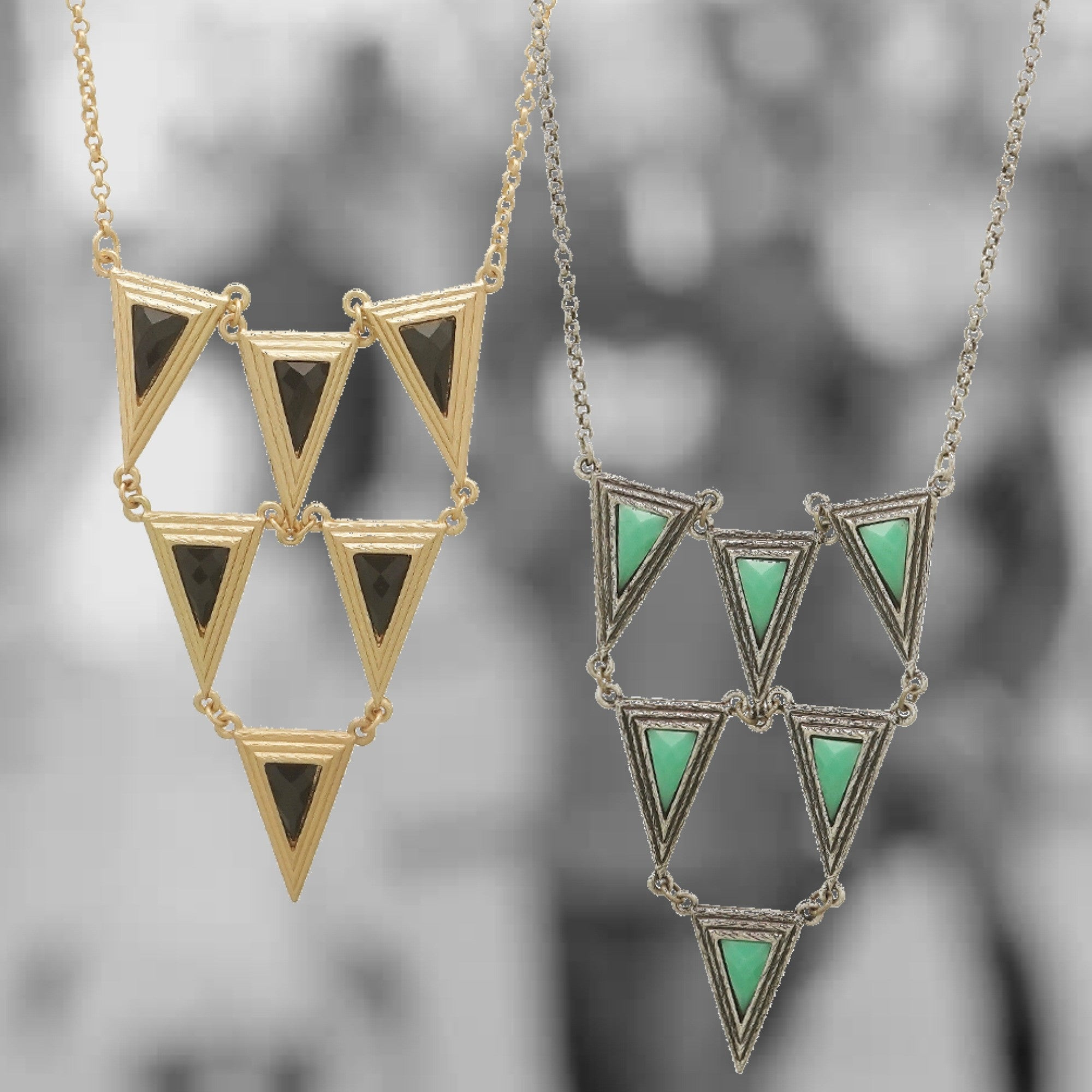 Long Triangle Necklace - 2 Colors- ShopLuLu.com , New York's Fashion District - NYC - Factory Direct. Basic As it Should Be