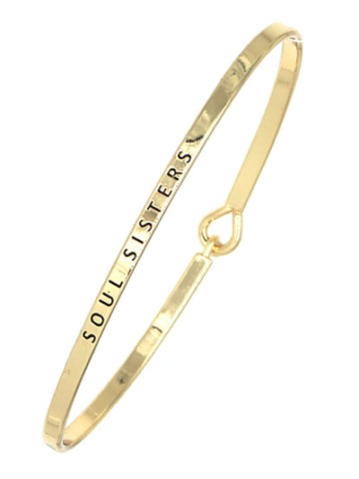 Soul Sisters Simple Message Being Bangle- ShopLuLu.com , New York's Fashion District - NYC - Wholesale Fashion Jewelry