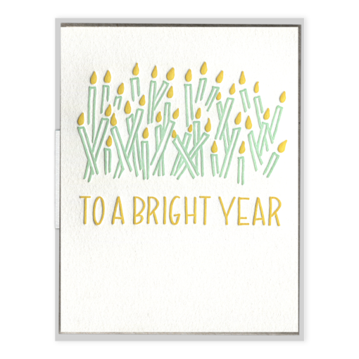 INK MEETS PAPER - To A Bright Year - Greeting Card