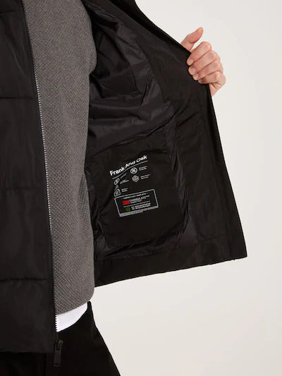 frank & oak - the skyline packable puffer in black