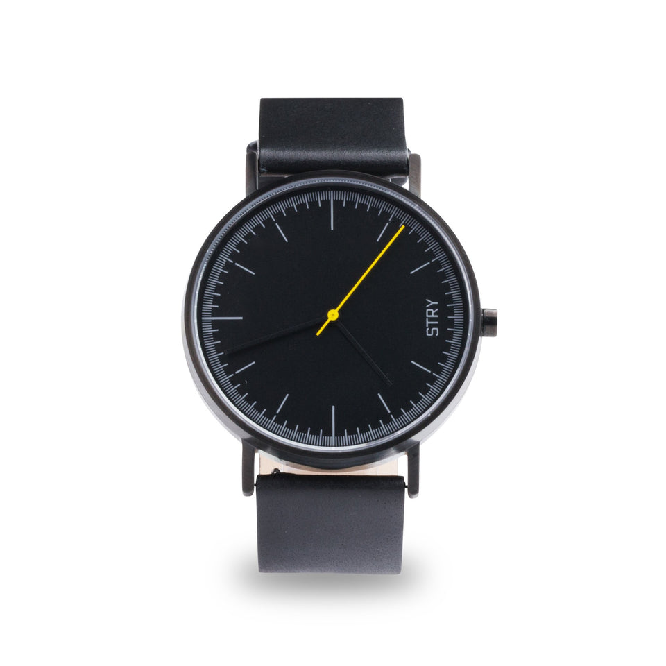STRY Project - Classic: Black Case + Black Dial