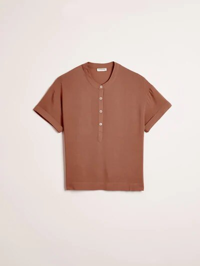 frank & oak - textured viscose button-up tee
