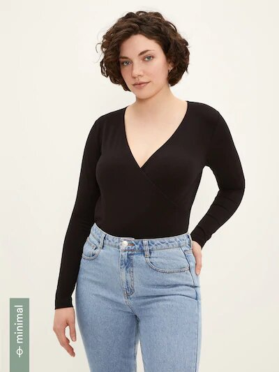 frank & oak - cotton wrap top