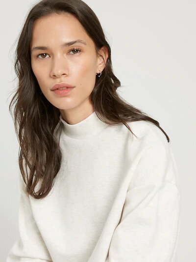 frank & oak - good cotton mockneck