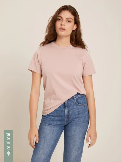 frank & oak - the essential tee in mauve