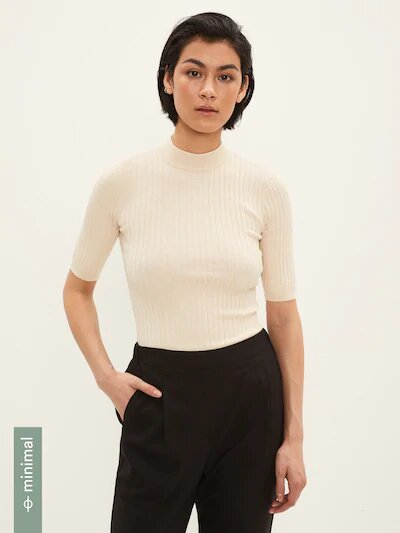 frank & oak - short-sleeved mockneck sweater