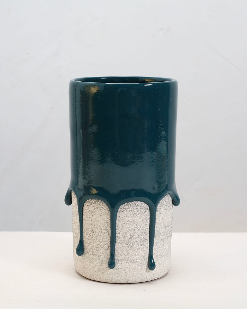 drippy pots - large cylinder vase