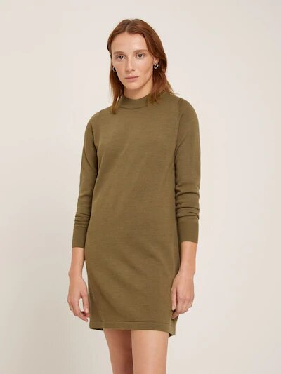frank & oak - machine washable merino sweater dress