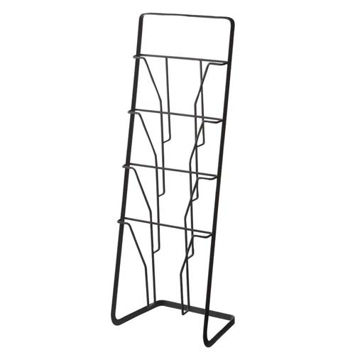 Yamazaki Home - Tower Magazine Rack Black