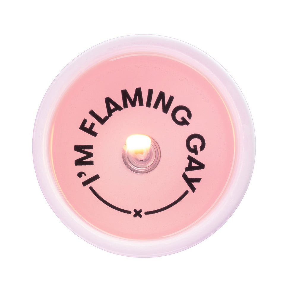 pyropet - i`m flaming gay secret message candle