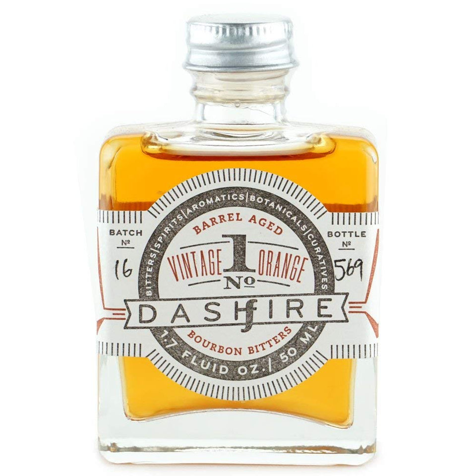 dashfire - vintage orange & bourbon barrel aged bitters