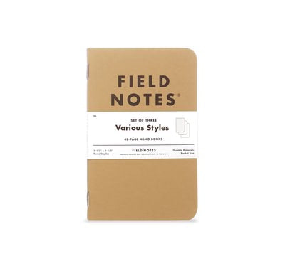 field notes - original kraft 3pk