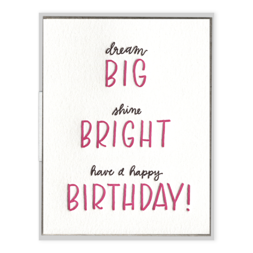 INK MEETS PAPER - Big Bright Birthday - Greeting Card