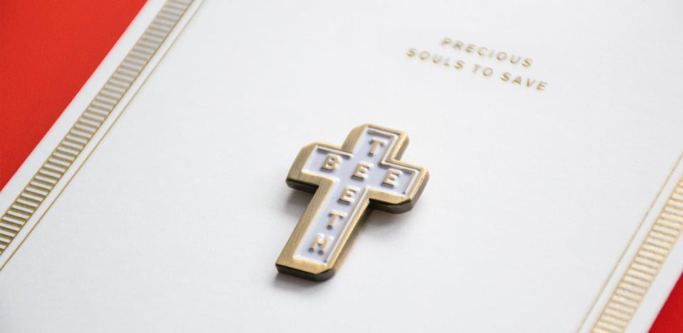 beeteeth - cross pin
