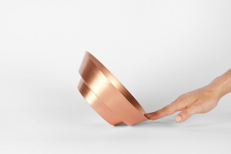 "yield - 8"" copper spun bowl"