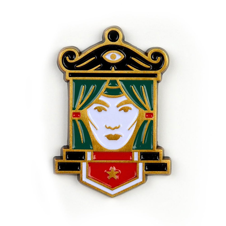 beeteeth - fortune teller pin