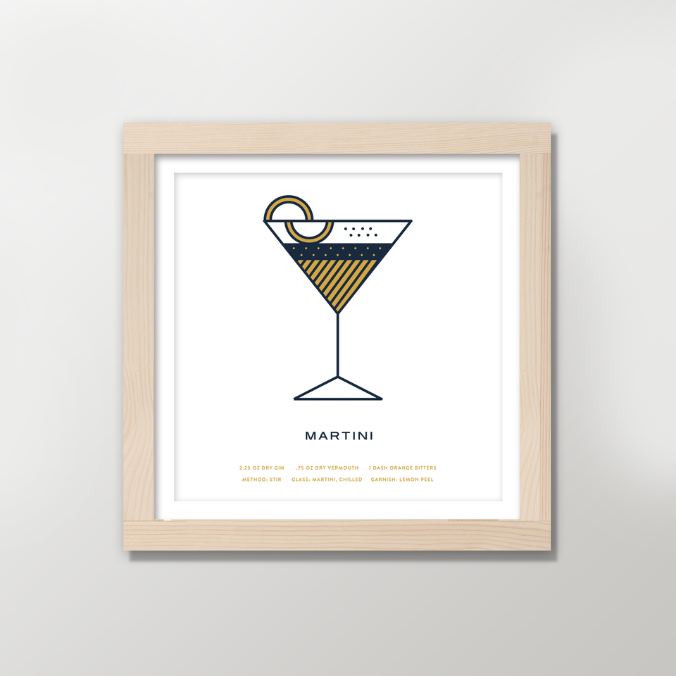 pretty useful co. - cocktail prints