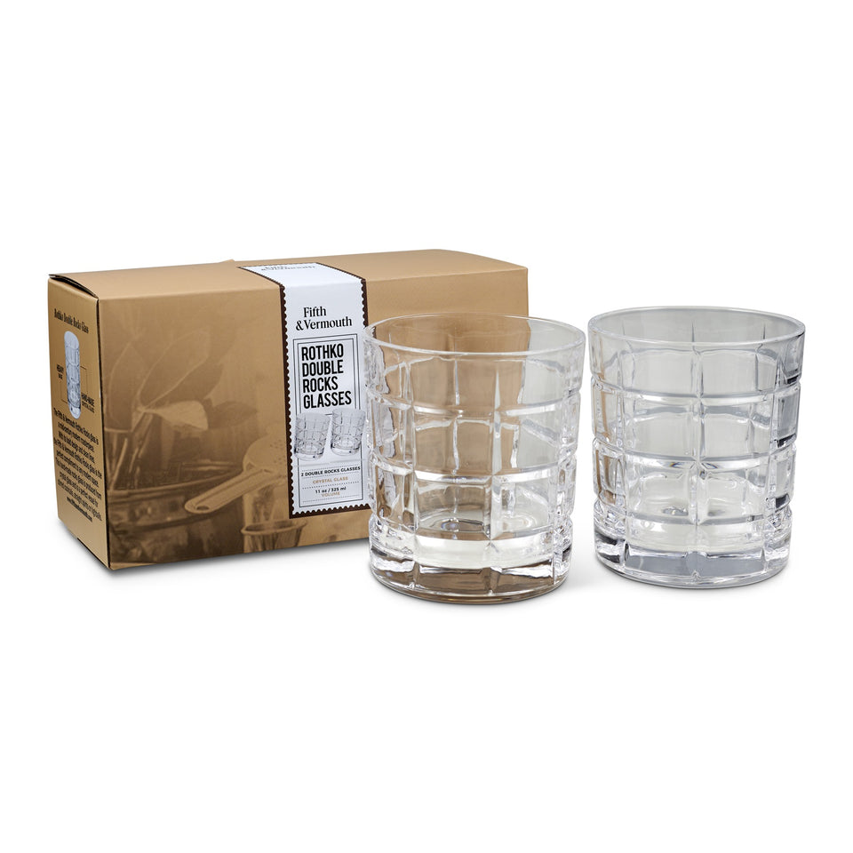 fifth & vermouth - rothko double rock glass (set of 2)