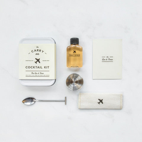 w&p design - carry-on cocktail kit (gin & tonic)