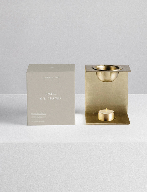 addition studios - brass essential oil burner