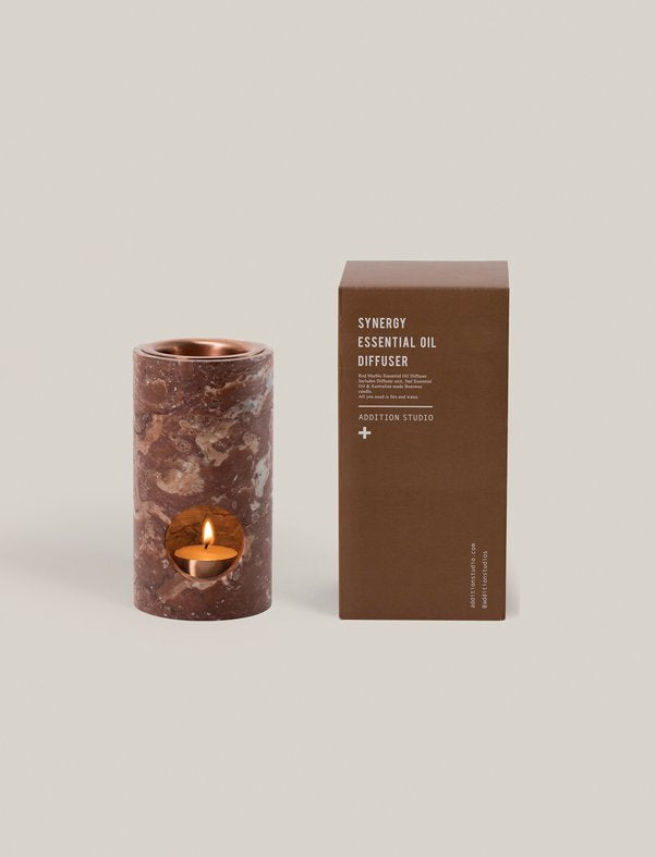 addition studios - red marble synergy oil diffuser