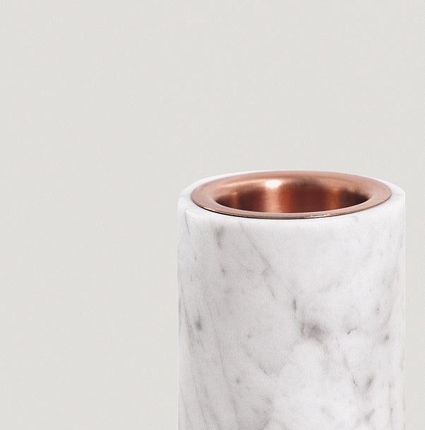 addition studios - carrara marble synergy oil diffuser