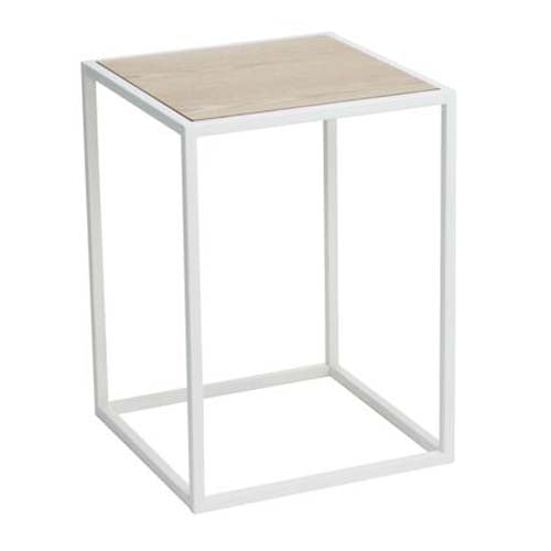 yamazaki home - tower square coffee table white
