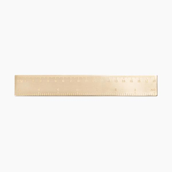 poketo brass solid ruler