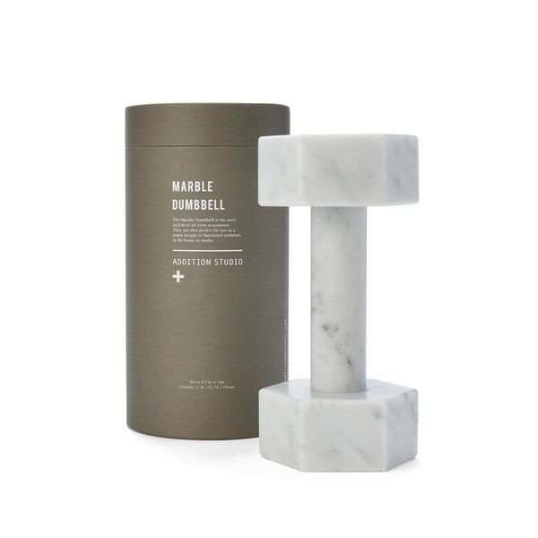 addition studio - marble dumbbell