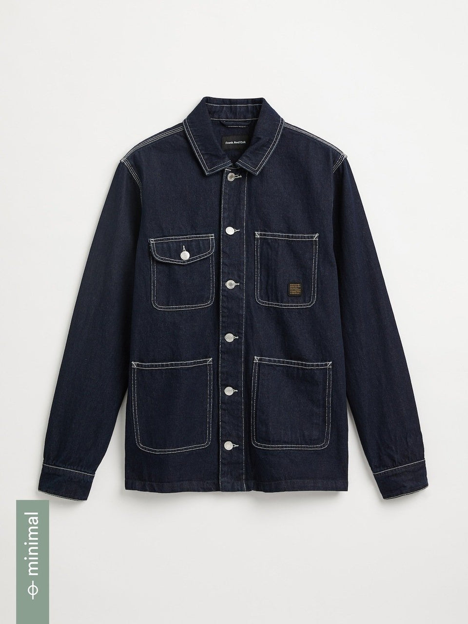 frank & oak -  good cotton denim overshirt
