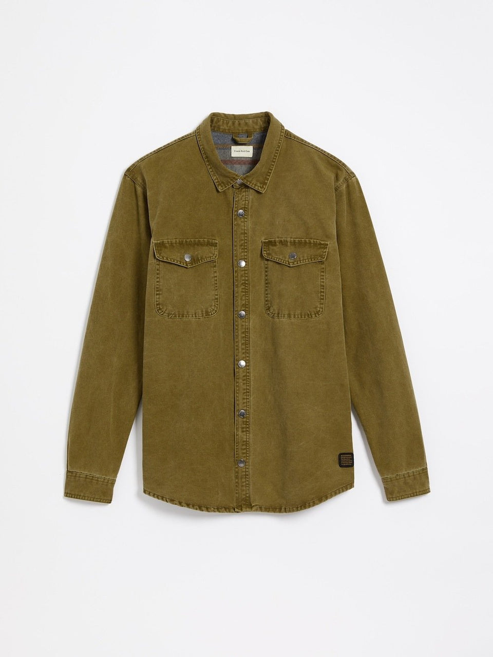 frank & oak -  cotton canvas overshirt