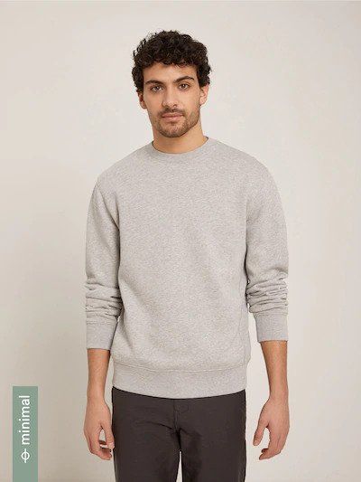 frank & oak - the '76 french terry sweatshirt in grey