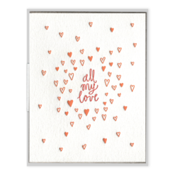 INK MEETS PAPER - All My Love - Greeting Card
