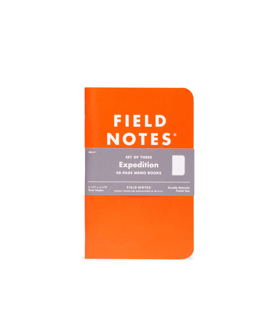 "field notes - ""expedition"" memo books - 3pk"
