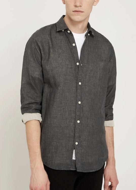 frank & oak - heather lined shirt