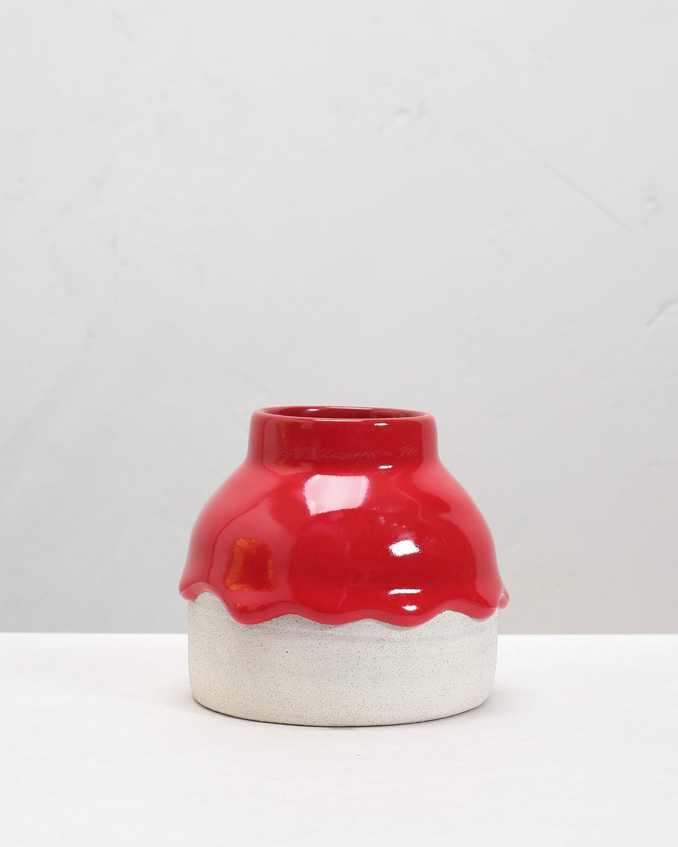 drippy pots - crock bud vase