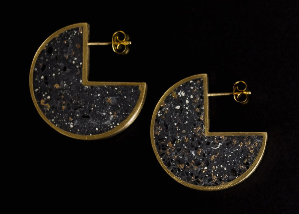 beton brut - radii stud earrings