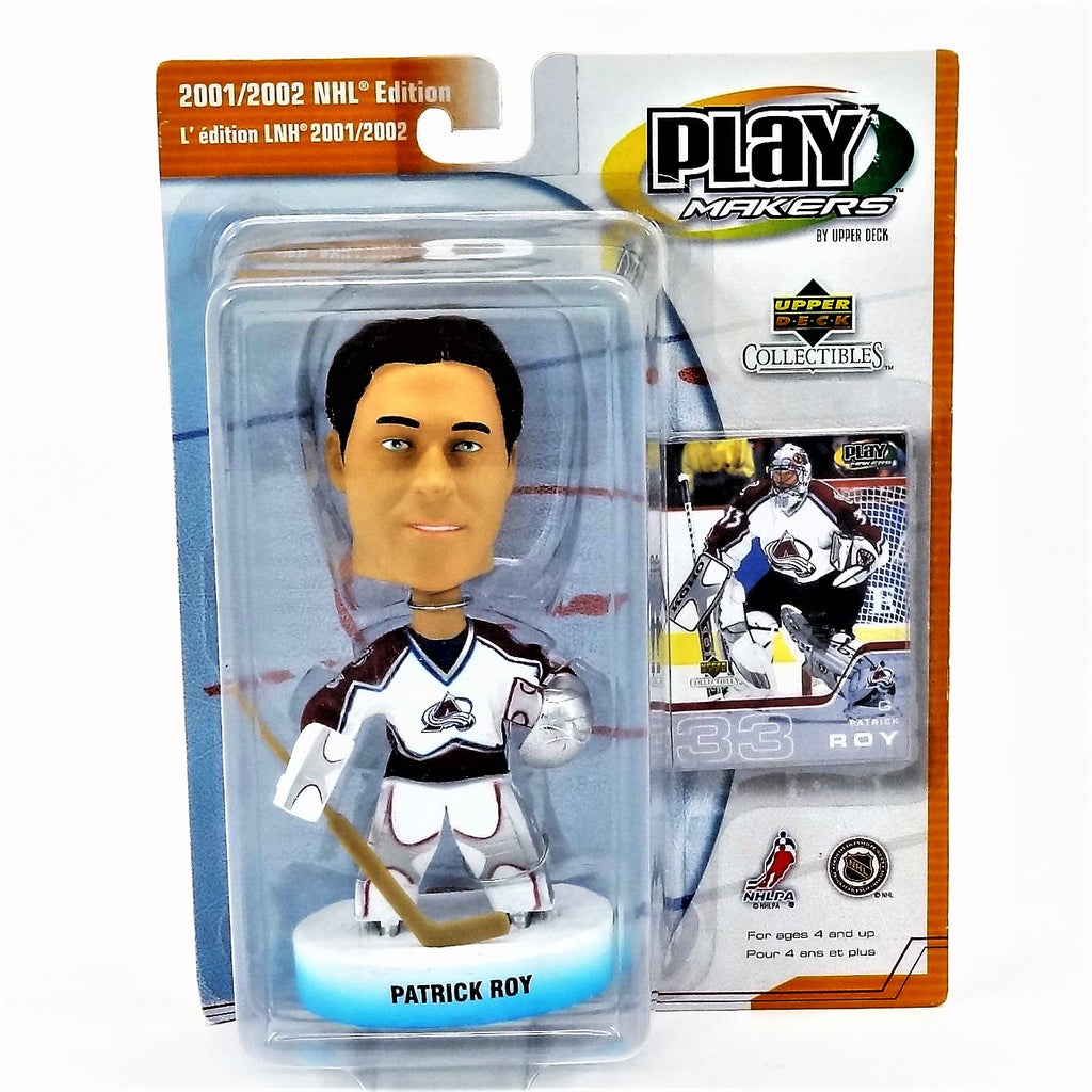 Upper Deck Play Makers Collectibles 2001/2002 NHL Edition Patrick Roy Bobblehead NHLPA