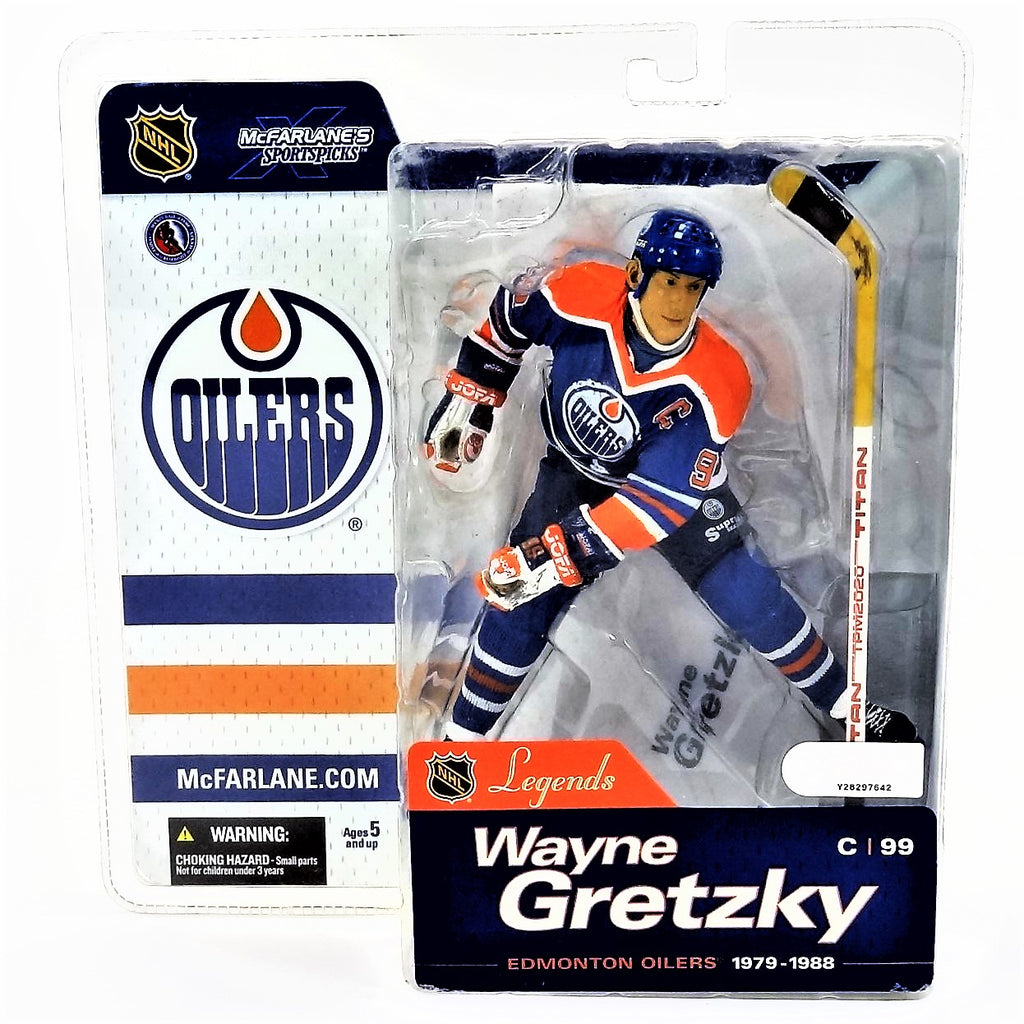 Mcfarlane Sportspicks NHL Legends Series 1 Wayne Gretzky Oilers NHLPA Figure 2004
