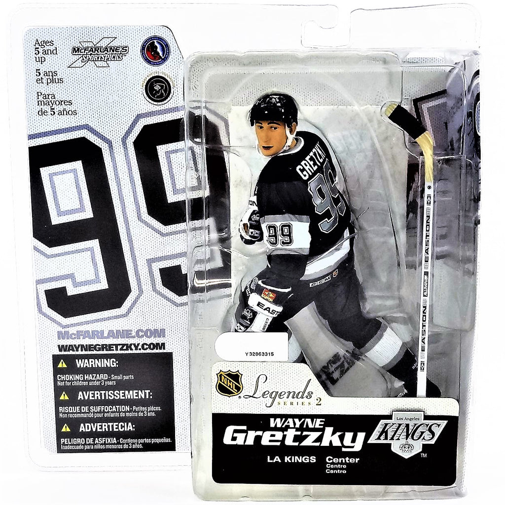 Mcfarlane Sportspicks NHL Legends Series 2 Wayne Gretzky Kings Variant Black Jersey NHLPA Figure 2005