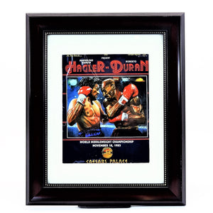 Marvelous Marvin Hagler vs. Roberto Duran World Middleweight Championship Boxing Match at Caesars Palace November 10, 1983 Program