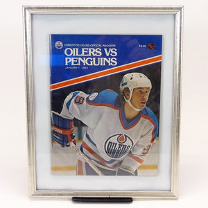 "Edmonton Oilers Official Magazine ""Oilers vs. Penguins"" January 7, 1983"