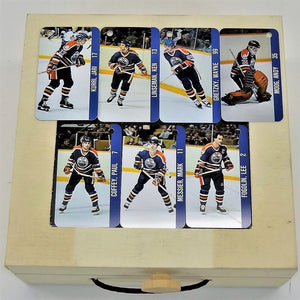 NHL NHLPA Collection Edmonton Oiler Set of 7 Key Ring Tags 1983