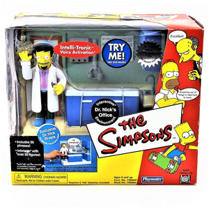 The Simpsons Intelli-tronics Playmates Dr. Nicks Office Interactive Environment Includes Dr Nick  #140664 2002