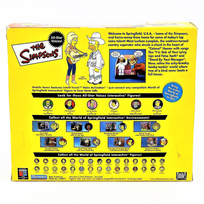 The Simpsons Intelli-tronics Playmates Mobile Home Interactive Environment Including Homer and Lurleen Figures #142071 2002