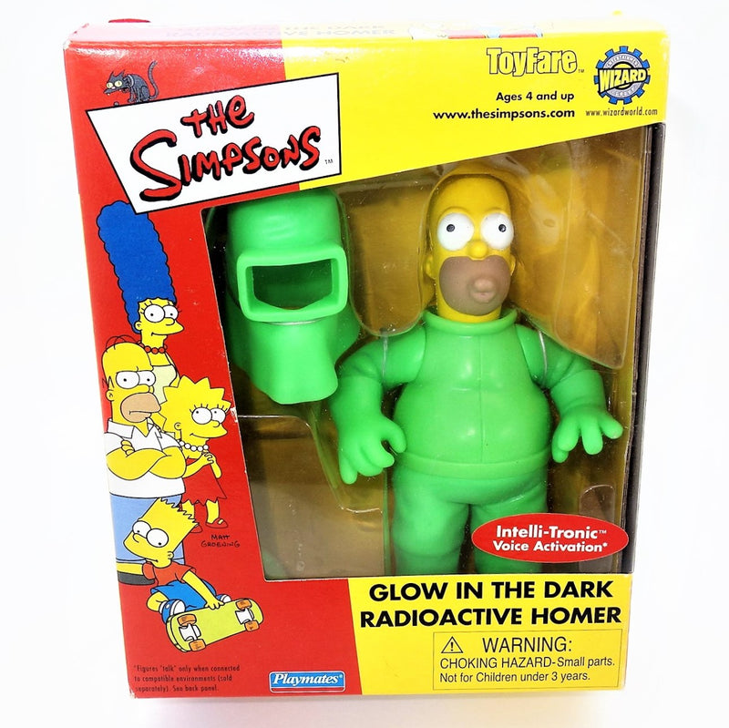 The Simpsons playmates Intelli-tronic Glow In the Dark Radioactive Homer Figure