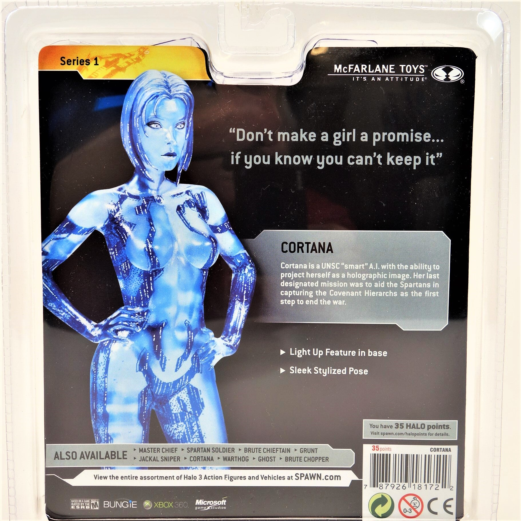 McFarlane Halo 3 Series 1 Cortana Light Up Action Figure 2008 – The