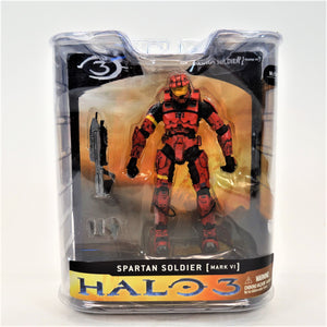 McFarlane Halo 3 Series 1 Mark VI 2008 Spartan Soldier Red Action Figure