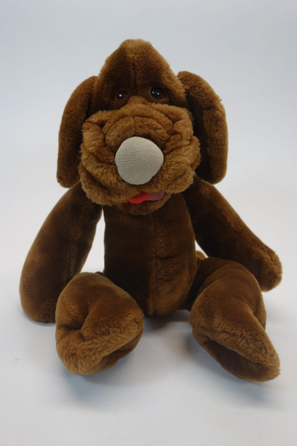 "Wrinkles Brown Dog 17.5"" Plush Puppet Tag No"